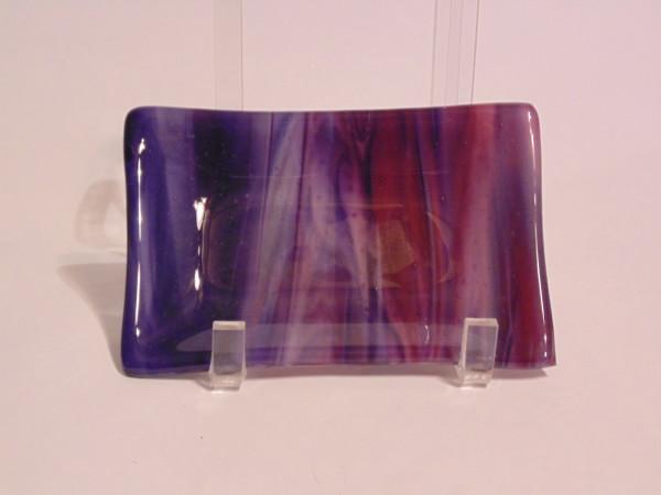 Soap Dish/Spoon Rest-Purple/Pink Streaky