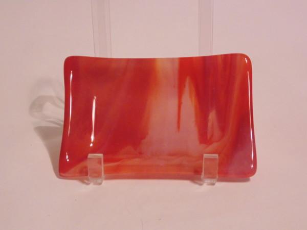 Soap Dish/Spoon Rest-Orange/White Streaky