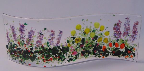 Garden Curve-Lavender, Yellow Poppies