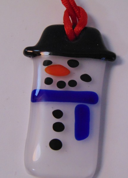 Snowman Ornament-Blue Scarf