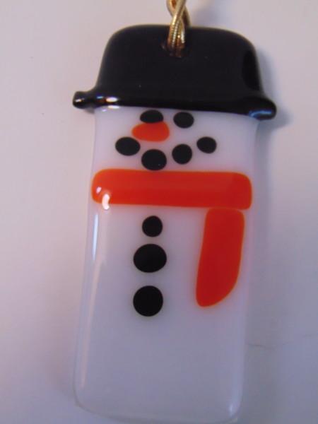 Snowman Ornament-Orange Scarf