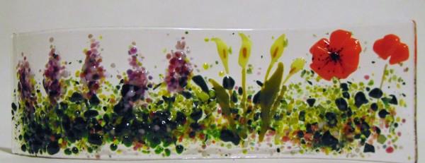 Garden Curve-Lavender, Callas, Poppies