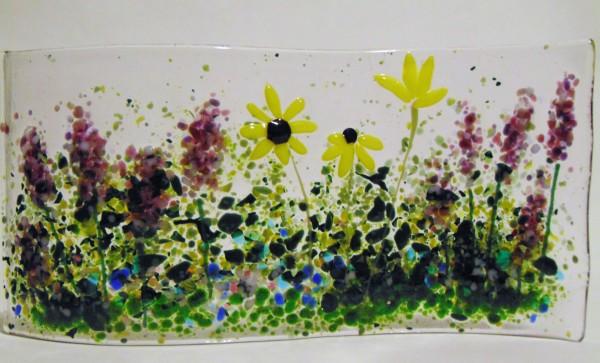 Garden Curve-Lavender & Daisies