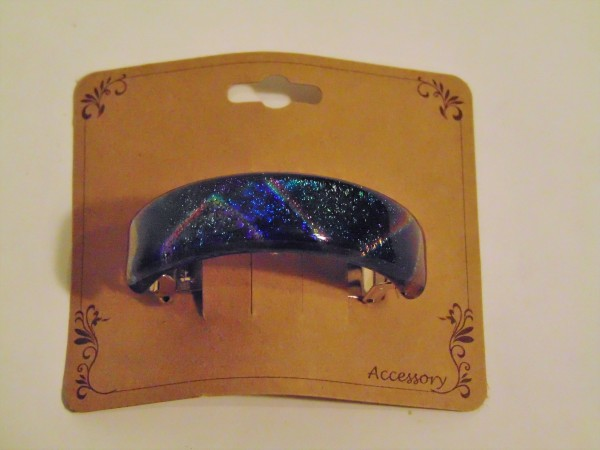 Ponytail Barrette-Patterned Dichroic