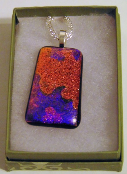 Necklace-Dichroic in Orange and Purples