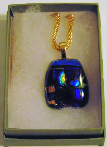 Necklace-Dichroic Blues/Golds