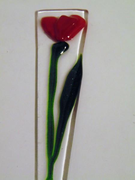 Plant Stake-Red Poppy