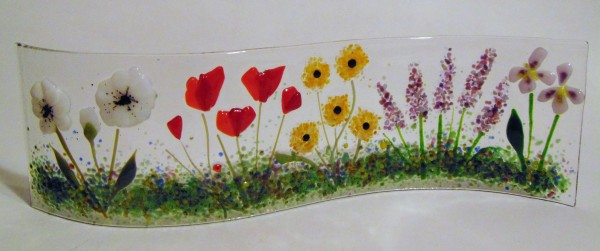 Garden Curve-Poppies, Lavender, Irises, Other Flowers