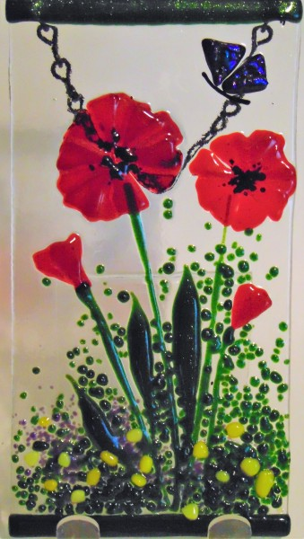 Garden Hangers-Red Poppies with Butterfly