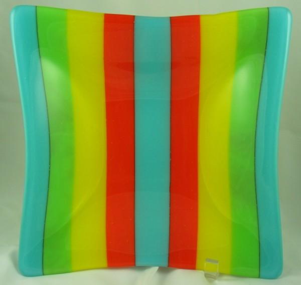 Multi-Colored Square Bowl