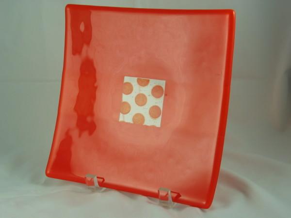 Orange Sushi Plate