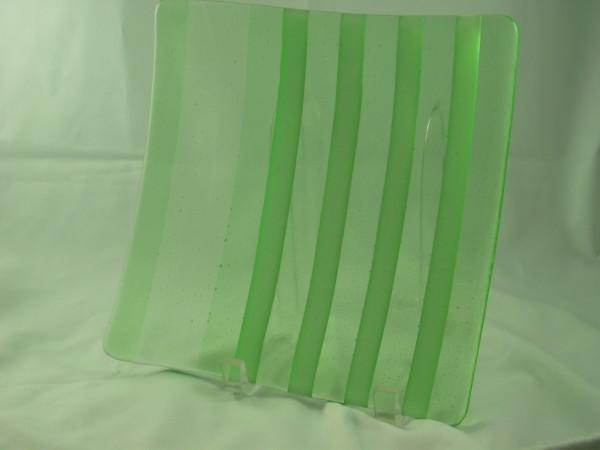 Sushi-Green on White Stripes