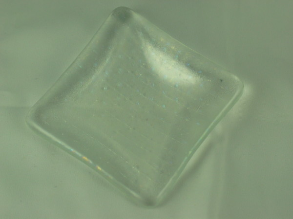 Small dish-Clear with irid lines
