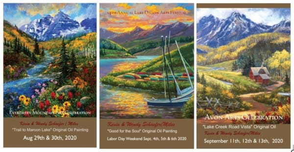 Collect all Three Posters Colorado Art Shows 2020