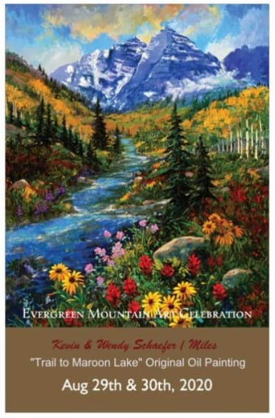 Trail to Maroon Bells Poster for Evergreen Colorado 2020