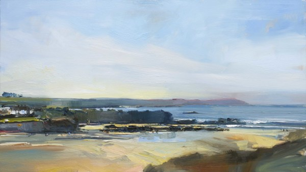 View Across Trevone Bay Autumn Afternoon