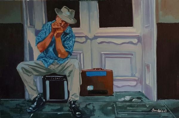 Carl on Harmonica