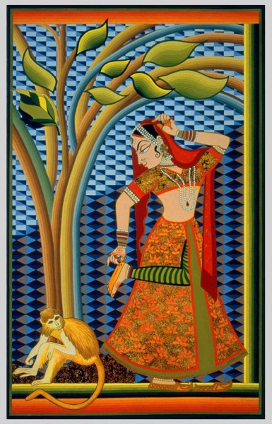 Indian Dancer With Tree (Giclee Print)