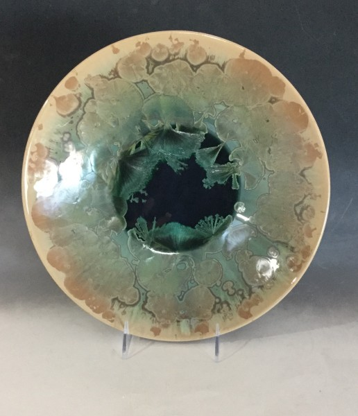 Large Green w/brown plate