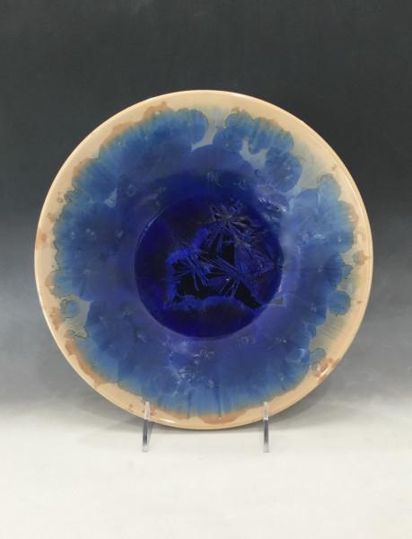 Medium Blue w/brown Bowl