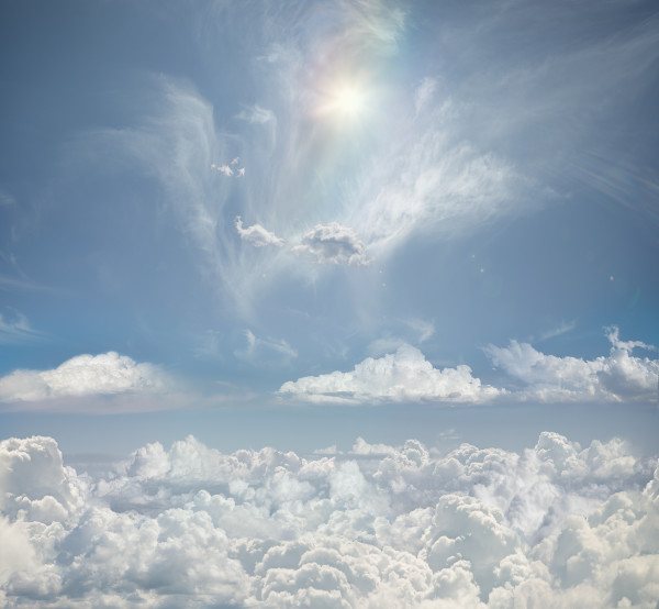 """""""Chasing Rainbows"""" Clouds shot from every flight to California"""