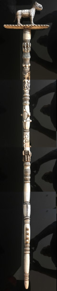 A Superb Benin Ivory Staff