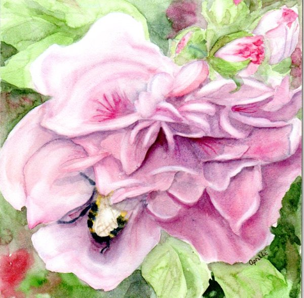 Bee in My Bonnet on Clayboard