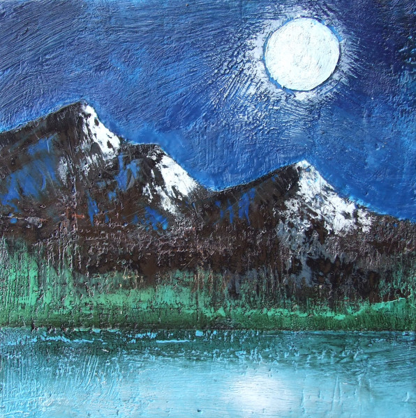 The Rockies by Moonlight