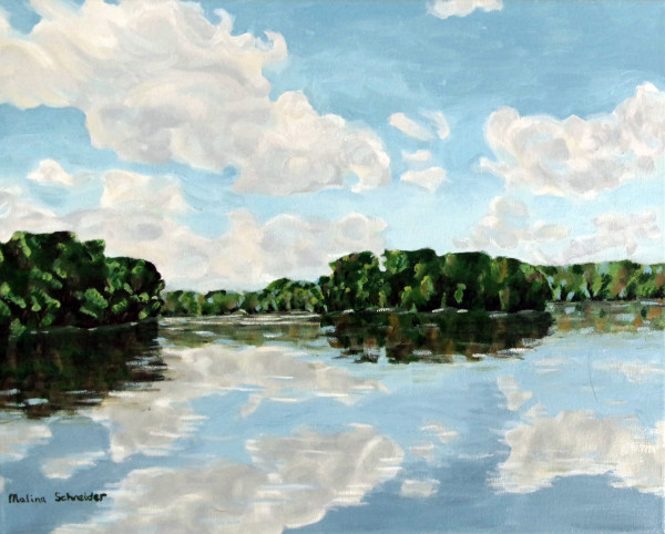 East Lake (study of water and sky)