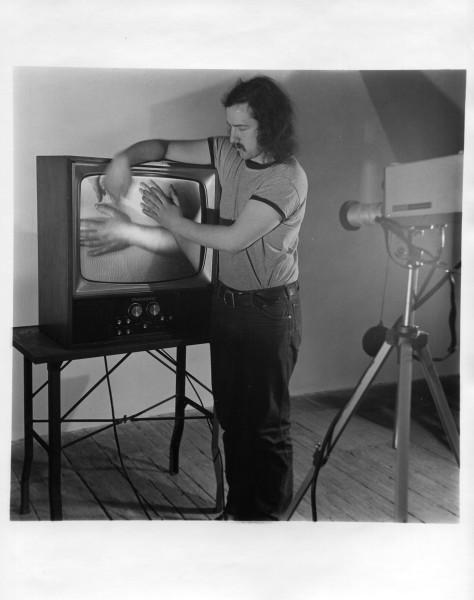 Alan video feedback Electron Movers 1975