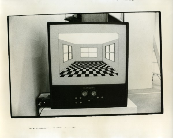 graphic by Dennis Hlynsky for video Maze 1975