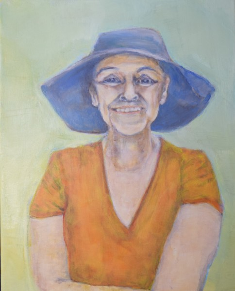 Woman In Blue Hat