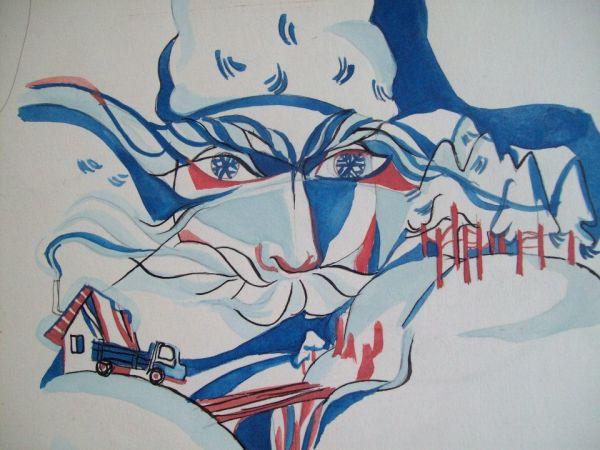 Detail of preliminary work for illustration