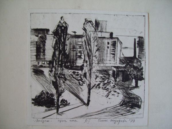 Cityscape with poplars/ Trakia Blocks of Flats
