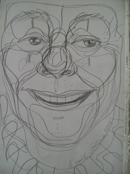 Don Wardlaw as a clown