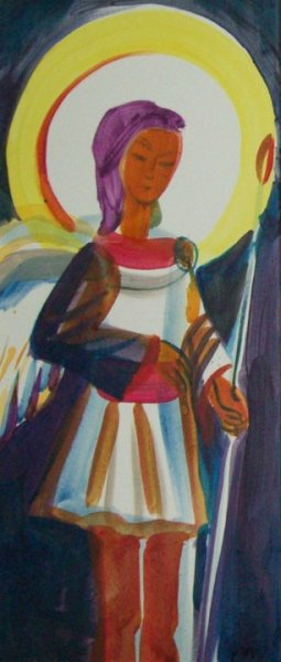 Archangel Gabriel - from the Karpino Tripthych