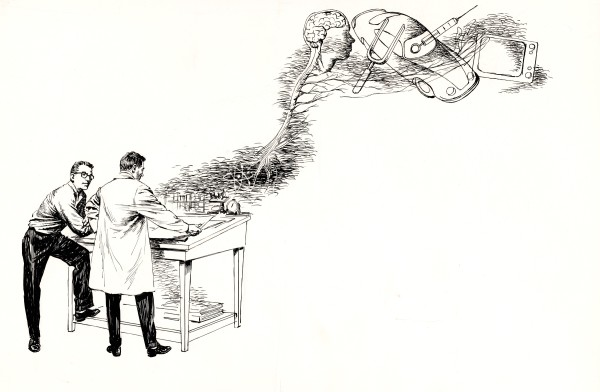 Science Book Illustration - Drawing Board
