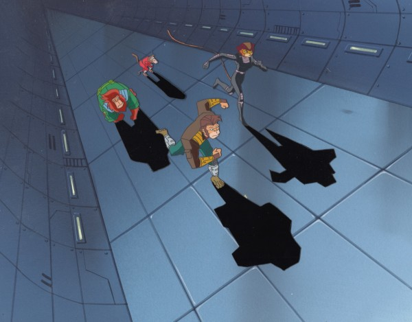 Captain Simian and the Space Monkeys - Cels and Background - Running