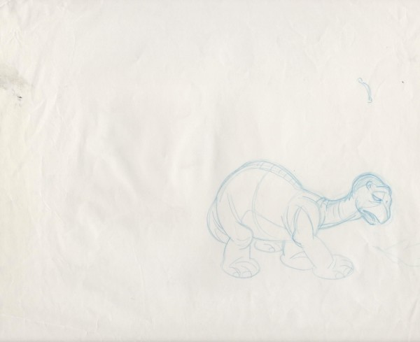 The Land Before Time -  Rough Sketch - Little Foot