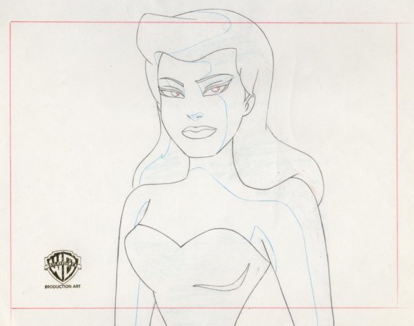 Batman: The Animated Series - Layout Drawing - Ivy