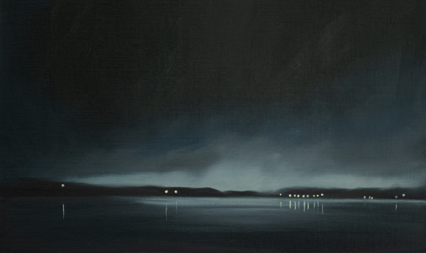 Night over Samish Bay