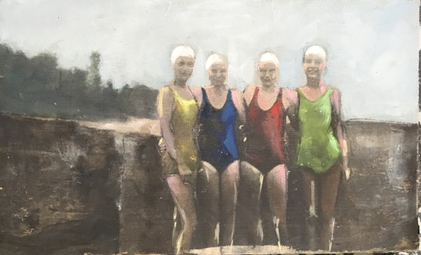 Near and Distant Shores: Four Swimmers