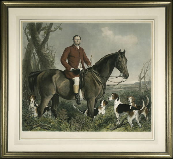 2035 - Engraving Picturing Francis Grant, K. A.