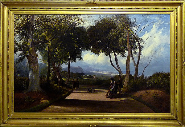 0001 - 19th Century, Landscape with wheelchair