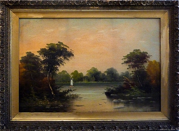 0003 - Landscape with Sailboat #2