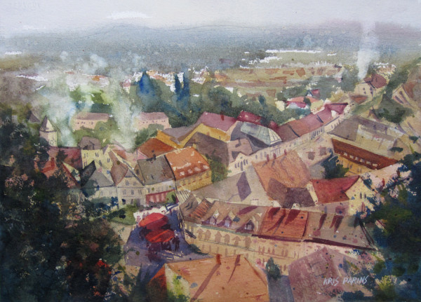Rooftops on the Danube