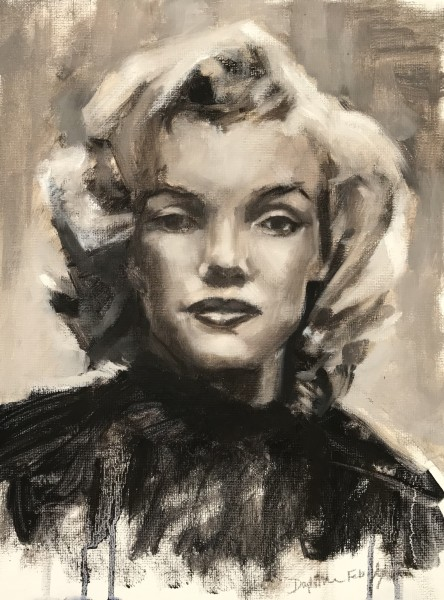 Untitled -Demo Painting of Marilyn Monroe Grey Scale February 8, 2019