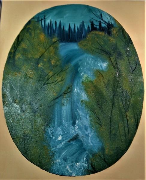 Oval Graceful Waterfalls