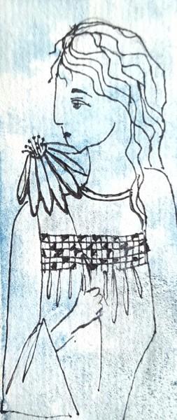 Girl and Echinacea
