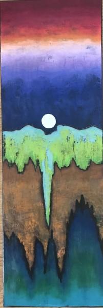 Moon over Gaia